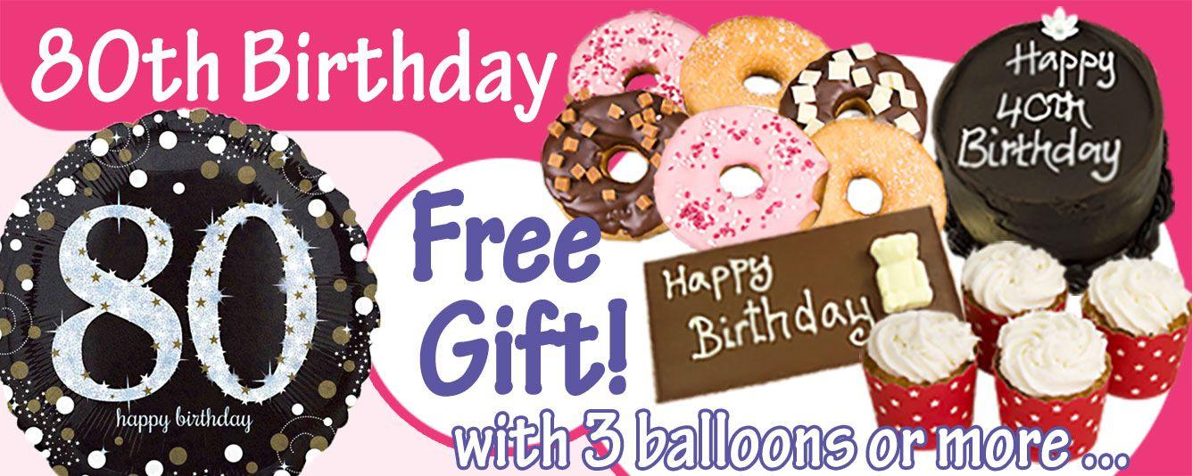 80th Birthday Balloons