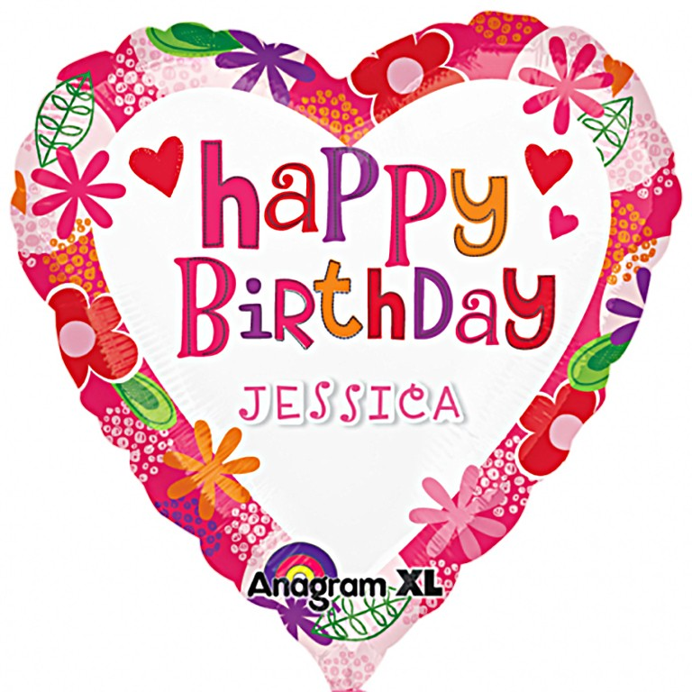 Heart Shaped Personalised Birthday Balloon