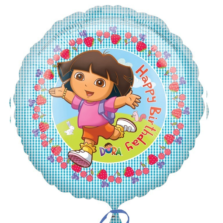 More Views Dora Happy Birthday Balloon