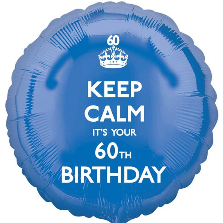 More Views Keep Calm 60th Birthday Balloon