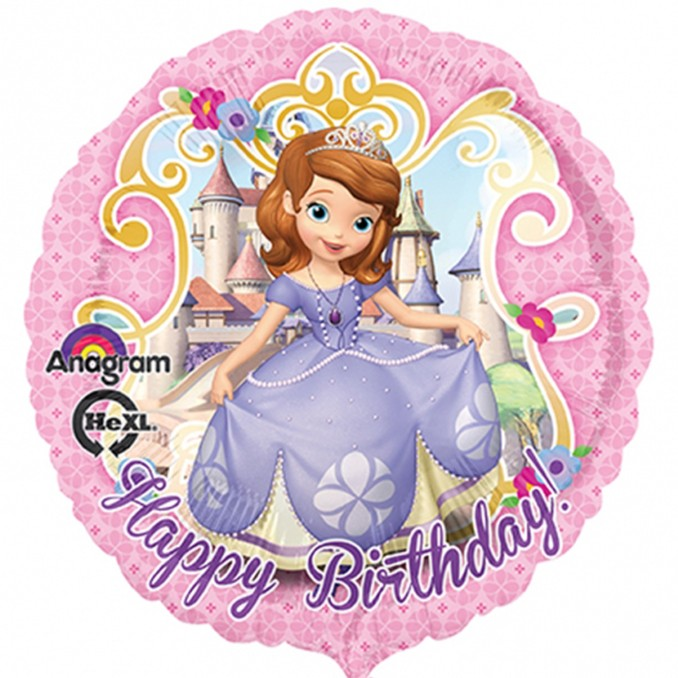 Excellent Disney Sofia The First Birthday Balloon Delivered Inflated In Uk Birthday Cards Printable Opercafe Filternl
