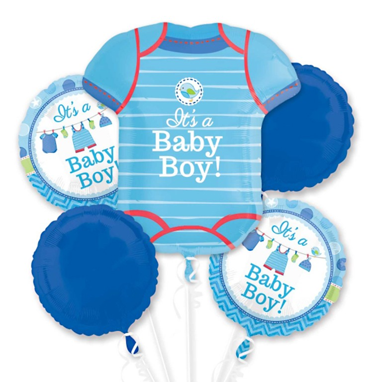 it s a baby boy balloon bouquet delivered inflated in uk
