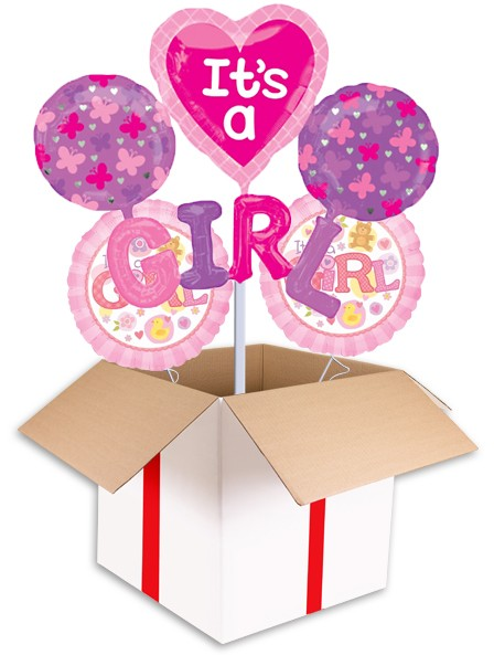 Its A Girl Cluster Balloon