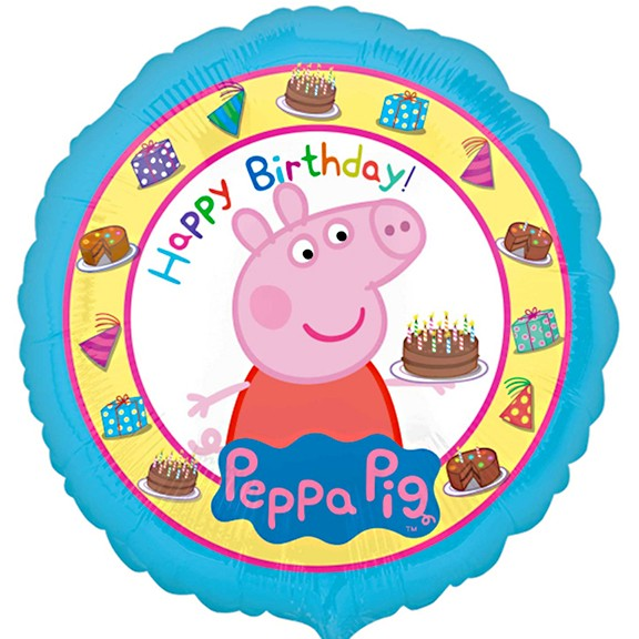 More Views Peppa Pig Happy Birthday Balloon