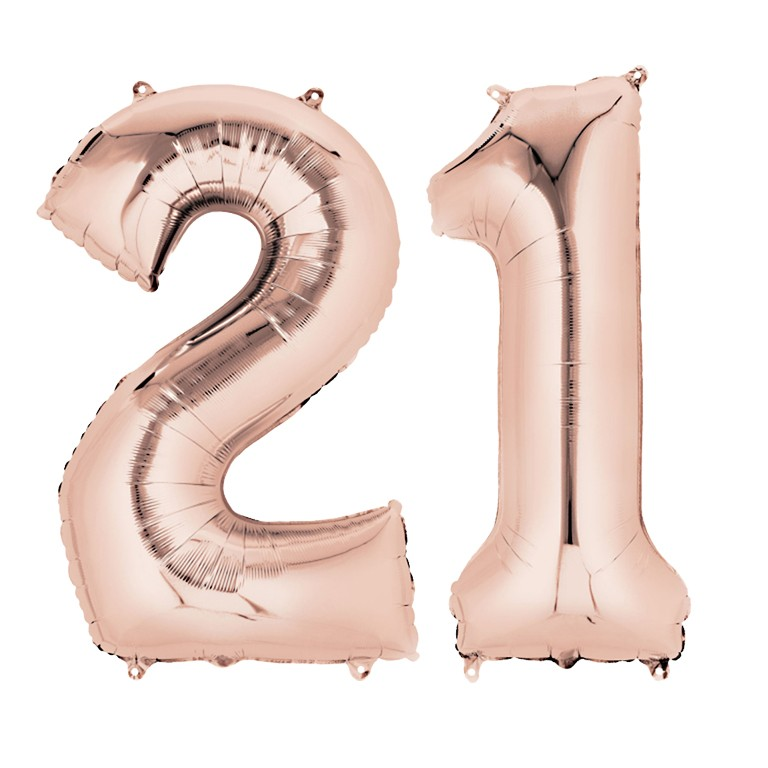 Rose Gold Two Digit Number Balloons 10 99