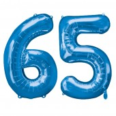 Blue Two Digit Number Balloons 10-99