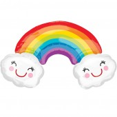 Smiling Clouds and Rainbow SuperShape Balloon