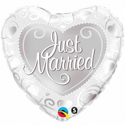 Just Married Heart Balloon