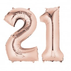Rose Gold Two Digit Number Balloons 10-99