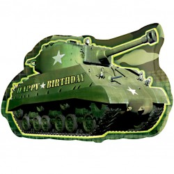 Birthday Army Tank SuperShape Balloon