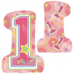 Large One-derful Birthday Girl Balloon