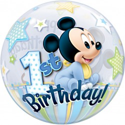 Bubbles Mickey Mouse 1st Birthday Balloon