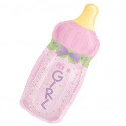 Large Baby Bottle Girl Balloon