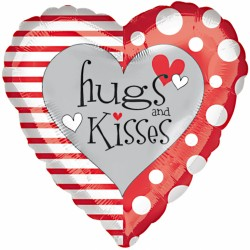 Hugs and Kisses Heart Balloon