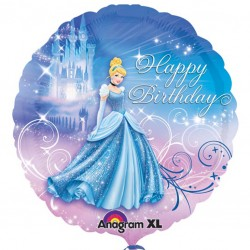 Cinderella Happy Birthday Balloon