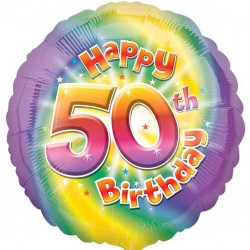 Colourful 50th Birthday Balloon