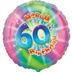 Colourful 60th Birthday Balloon