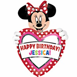Personalised Minnie SuperShape Balloon