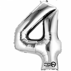 Large Silver Shape Balloon No 4