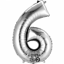 Large Silver Shape Balloon No 6