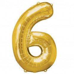 Large Gold Shape Balloon No 6