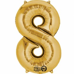 Large Gold Shape Balloon No 8