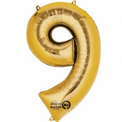 Large Gold Shape Balloon No 9
