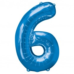 Large Blue Shape Balloon No 6