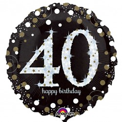 Sparkling 40th Birthday Balloon