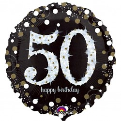 Sparkling 50th Birthday Balloon
