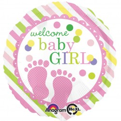 Welcome Baby Girl Balloon