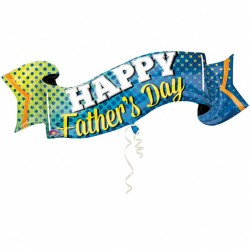 Fathers Day Banner Supershape Balloon