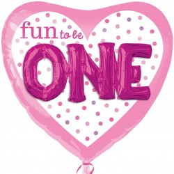 Fun to be One Heart 3D Supershape Balloon