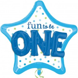 Fun to be One Star 3D Supershape Balloon