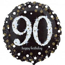 Sparkling 90th Birthday Balloon