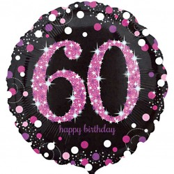 Celebration Pink 60th Birthday Balloon
