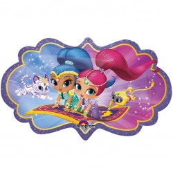 Shimmer and Shine Magic Carpet Supershape Balloon