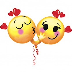 Emojis In Love Supershape Balloon