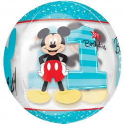 Mickey 1st Birthday Orbz Balloon
