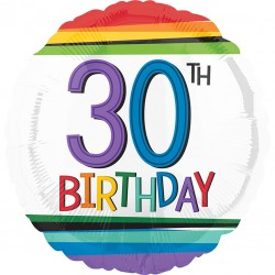 Rainbow 30th Birthday Balloon