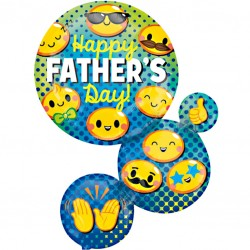 Emoji Cluster Fathers Day Balloon
