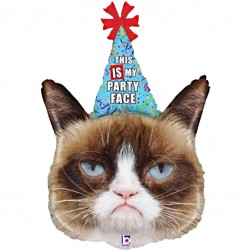 Grumpy Cat Party Face Supershape Balloon