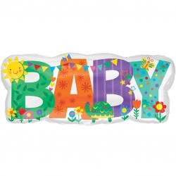 Baby Letters Supershape Balloon
