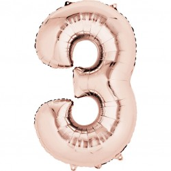 Large Rose Gold Shape Balloon No 3