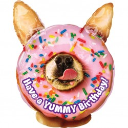 Doghnut Dog Birthday Shape Balloon