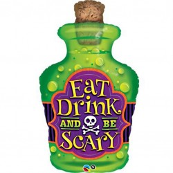 Eat Drink and Be Scary Supershape Balloon