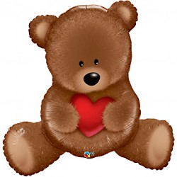 Teddy Heart Supershape Balloon