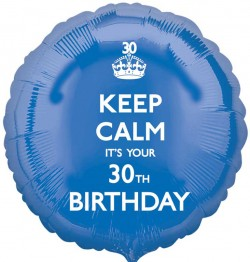 Keep Calm 30th Birthday Balloon