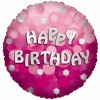 Pink Sparkle Party Happy Birthday Balloon