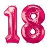 Pink Two Digit Number Balloons 10-99